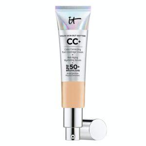 IT Cosmetics Your Skin But Better CC+ Cream, Medium Tan (W) - Color Correcting Cream, Full-Coverage Foundation, Anti-Aging Serum & SPF 50+ Sunscreen -...